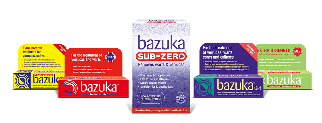 Bazuka range products lockup